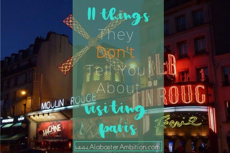 Moulan Rouge!  Not what I expected.  Check out 11 other things that they don't tell you about Paris here! #Paris #Travel #Europe #France