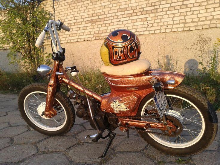 honda c90 with matching helmet