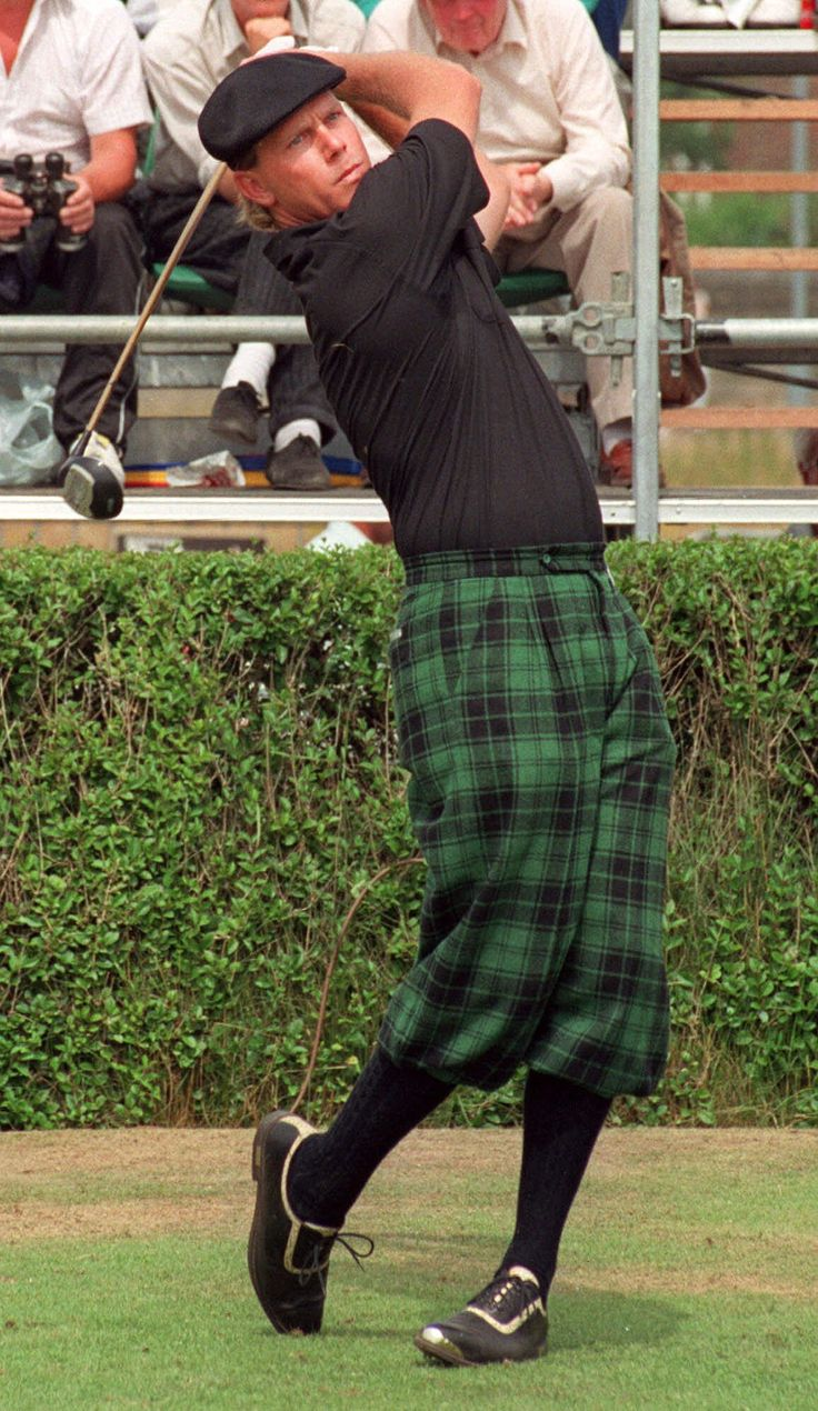 Photo by Associated Press | <p>Golfer Payne Stewart, wearing tartan plus-fours, drives down the fairway during the first round of the Open Golf Championship in Troon, Scotland in this July 20, 1989 photo. Stewart, this year's U.S. Open Champion and winner of 18 tournaments around the world, including three major championships, died in a plane crash, Monday Oct. 25, 1999. He was 42.</p>
