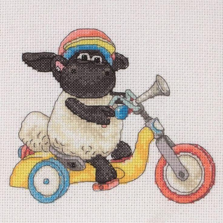 Timmy Time Bike Ride Cross Stitch Kit | Black Sheep Wools