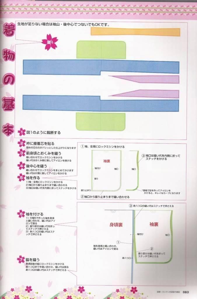 Aprendiz de Cosplayer: Patrones: kimono sencillo   Trajes maid ...