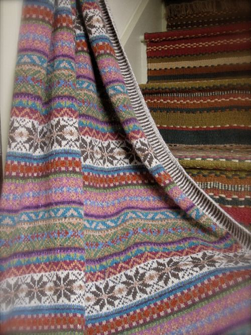 Sage throw 9 LR - love the carpeted stair risers