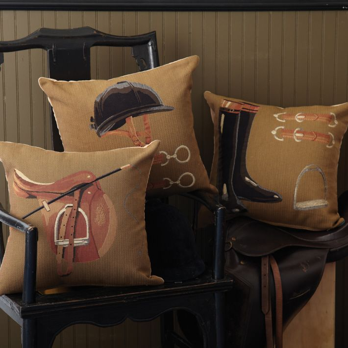 Equestrian Pillow Asst 3 Designs © Two's Company