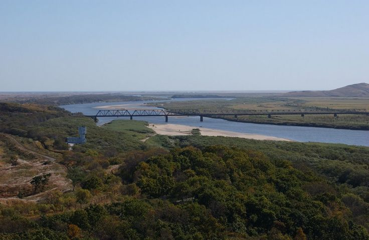 Friendship Bridge at the border of North Korea and Russia (Khasan district, Primorsky kray, Russia)