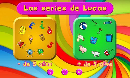 """""""Las Series de Lucas"""" es un juego educativo de series lógicas para niños entre 2 y 8 años, pero igualmente válido para personas de la tercera edad como ejercicio de atención y concentración."""