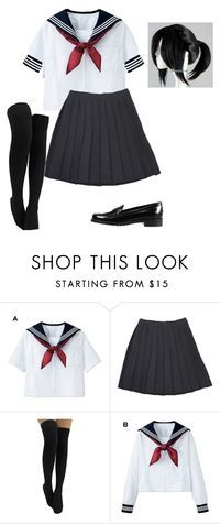 """""""Ayano Aishi (Yandere-Chan) ~ Yandere Simulator ~ Cosplay (Default Uniform)"""" by electricbalancekilljoy ❤ liked on Polyvore featuring Tod's"""