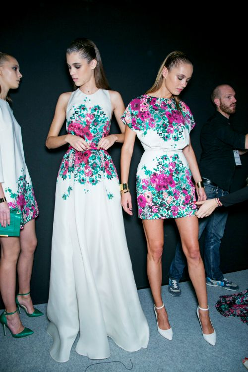 Elie Saab Spring/Summer 2014, Backstage.