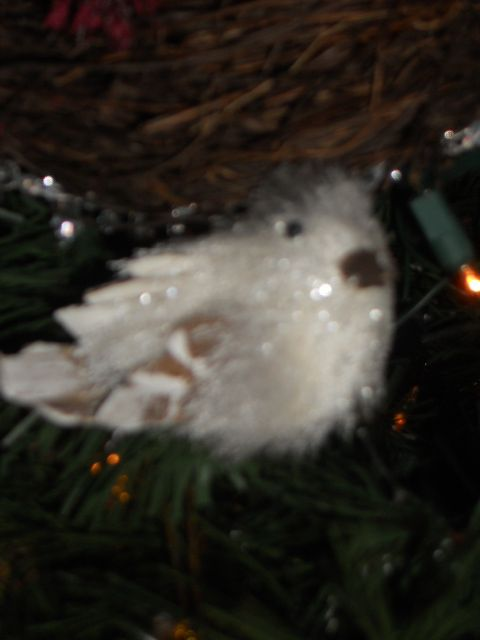 We love little woodland critter ornaments.
