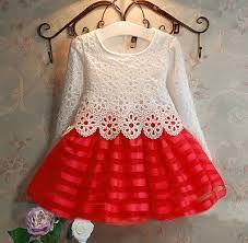 Resultado de imagen para vestidos blancos tejidos a crochet para bebes