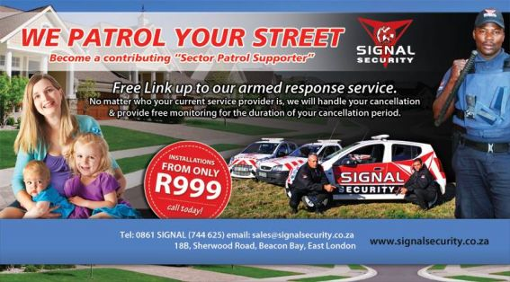 SIGNAL SECURITY - Protecting Your Home as well as your business - Connect with us on Facebook to get more www.facebook.com/SignalEL or our Website www.signalsecurity.co.za