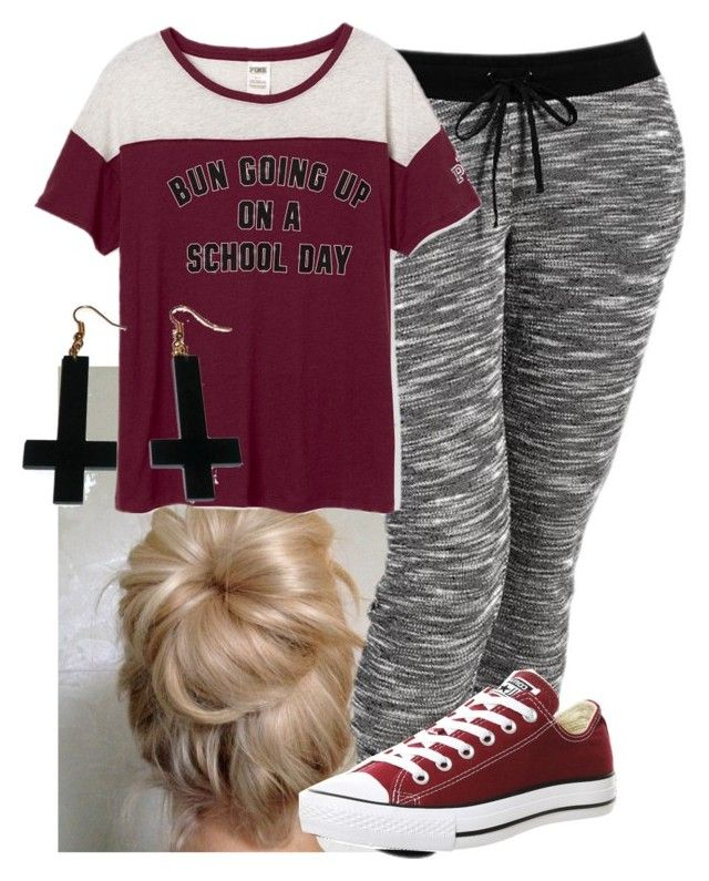 """""""but there is no school tomorrow!!! yay!"""" by imblissedoff ❤ liked on Polyvore featuring Old Navy, Converse, Chicnova Fashion and plus size clothing"""