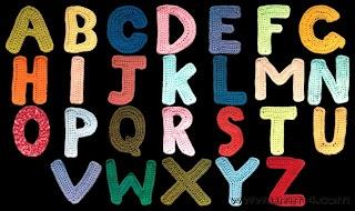 Patron de letras tejidas