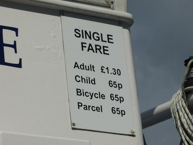 From the Cremyll Ferry, Plymouth. It's curious how parcels have their own separate fare.