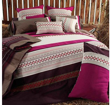 Season's Collection River Side 3-Piece Embroidered Duvet Cover Set #ilovetoshop