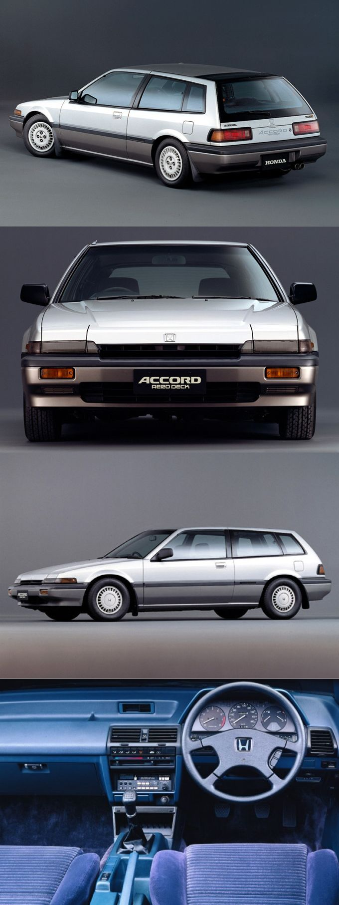 1986 Honda Accord Aerodeck / shooting brake / Japan / silver / 17-261