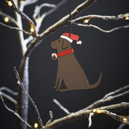 Sweet William Chocolate Labrador Christmas Decoration - £6.99