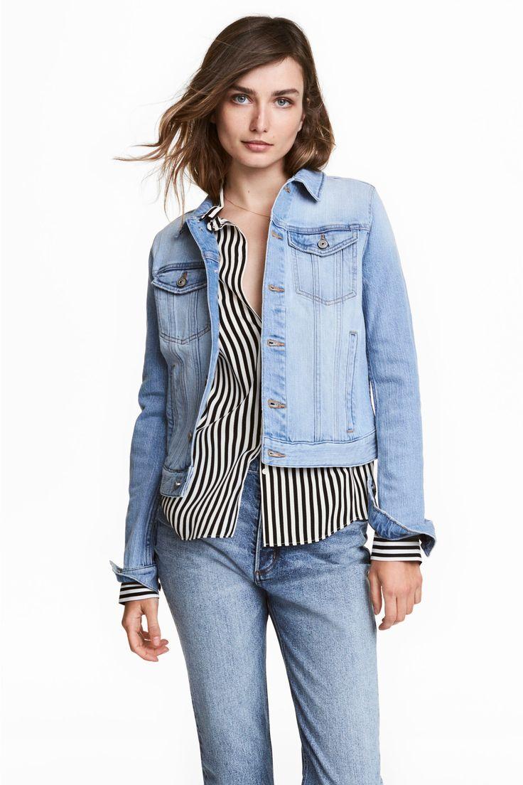 Denim jacket - Light denim blue - Ladies | H&M GB