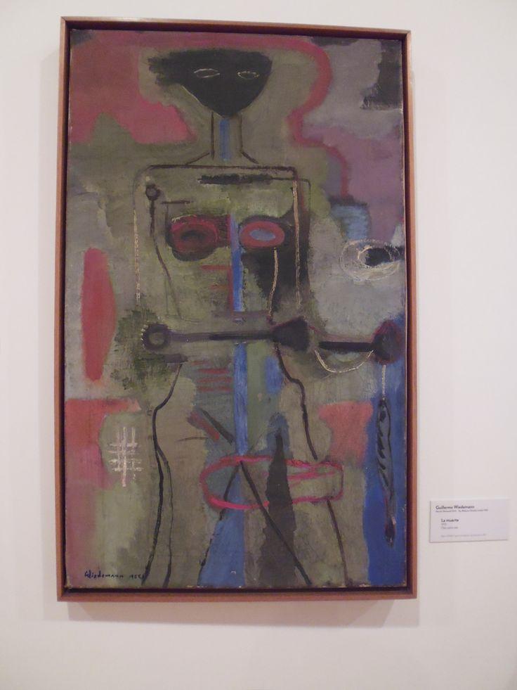 Guillermo Wiedemann. Munich (Alemania) LA MUERTE 1955. óleo sobre tela.