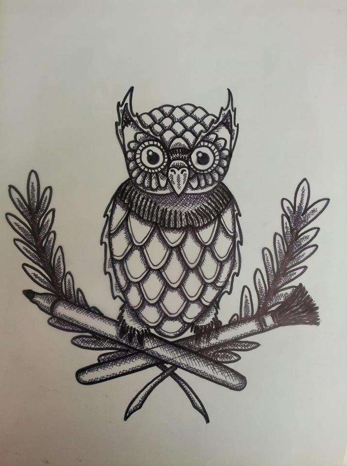 retro tattoo style owl. [zeek] | Tattoos! | Pinterest ...