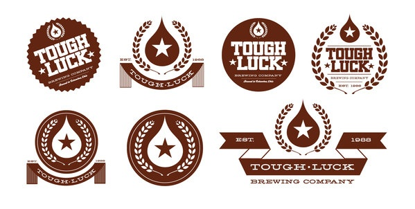 Tough Luck Beer LogosTough Luck, Logo Design, Package Design, Graham Erwin, Packaging Design, Graphics Design, Beer Logo, Luck Beer Labels, Design Blog