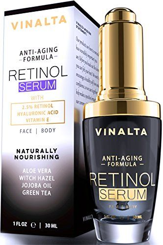 Vinalta Retinol Serum Best Anti Aging Skin Care for Face with Hyaluronic Acid Vitamin E and More 25 Percent Vitamin A for Beautiful Wrinkle Repair Confidence Light up the World with Your Beauty * Check out this great product.