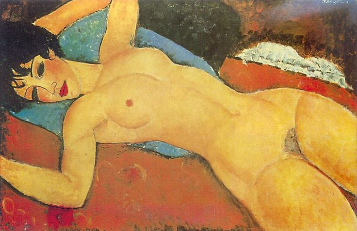 Modigliani - Sleeping Nude with Arms Open, on Google