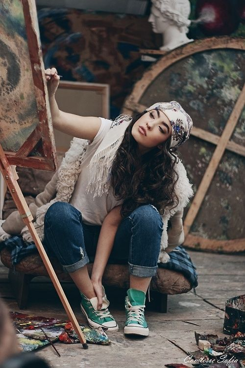 Bohemian painter