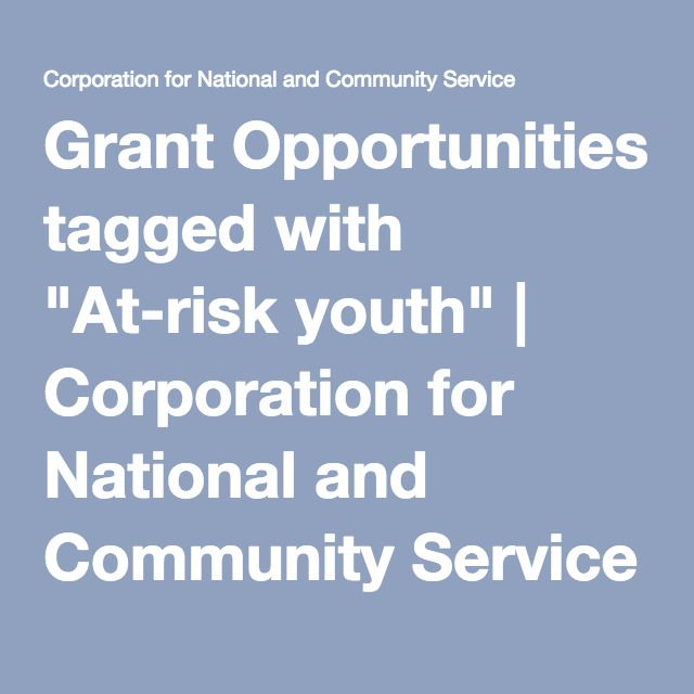 "Grant Opportunities tagged with ""At-risk youth"" 