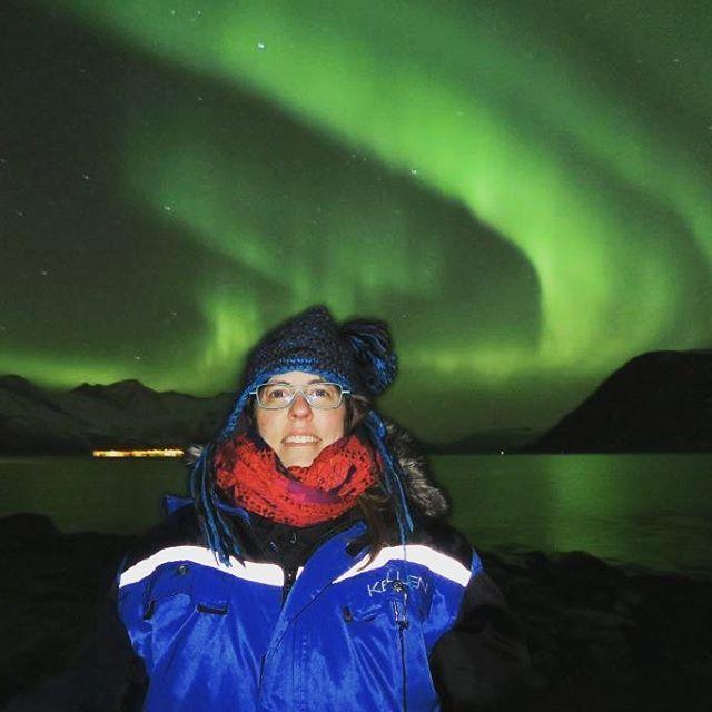 Anne Marie freezing cold but still smiling :-) #babyitscoldoutside #northernlights #aurora #nordlys #tromsø #norway #scandinavia #igscandinavia #twodanesontour #topåtur #danskerejseblogs #rejseblog #turengårtil #instapassion #instatravel #lonelyplanet #lonelyplanettraveller #nordic #backpacking #travelawesome #travelgram #visitnorway