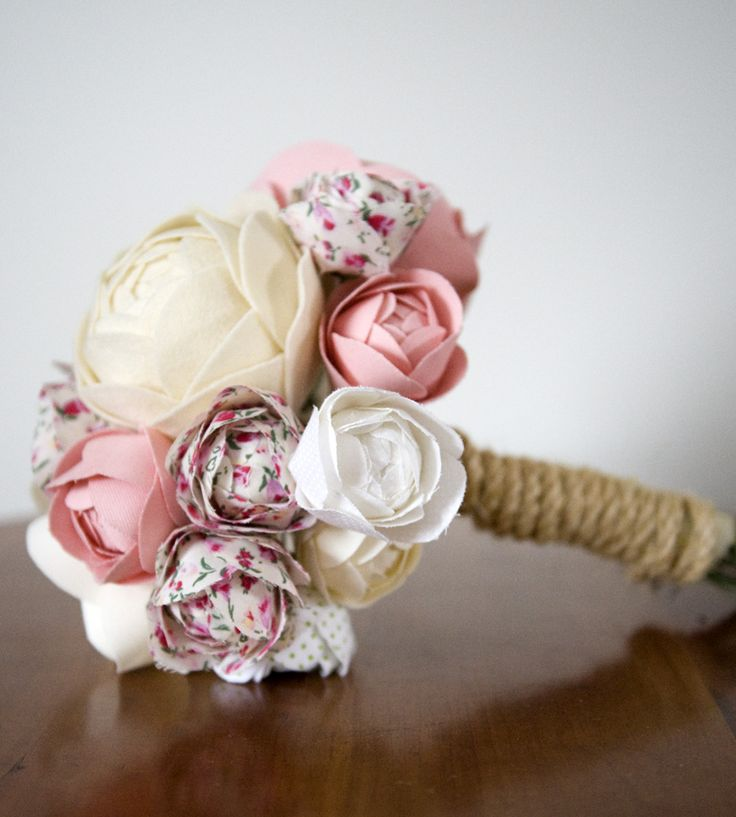Handmade Fabric Flower Bouquet – Pink | Home Decor | Bagsy Blue Co. | Scoutmob Shoppe | Product Detail