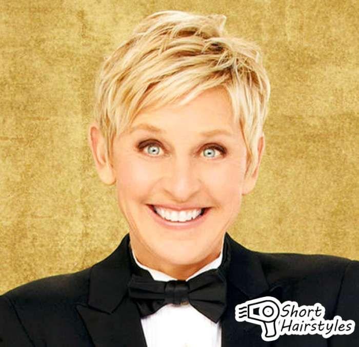 Short Hairstyles Ellen Degeneres 2014