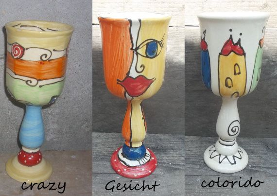 Weinkelch Keramik von schuetzkeramik auf Etsy