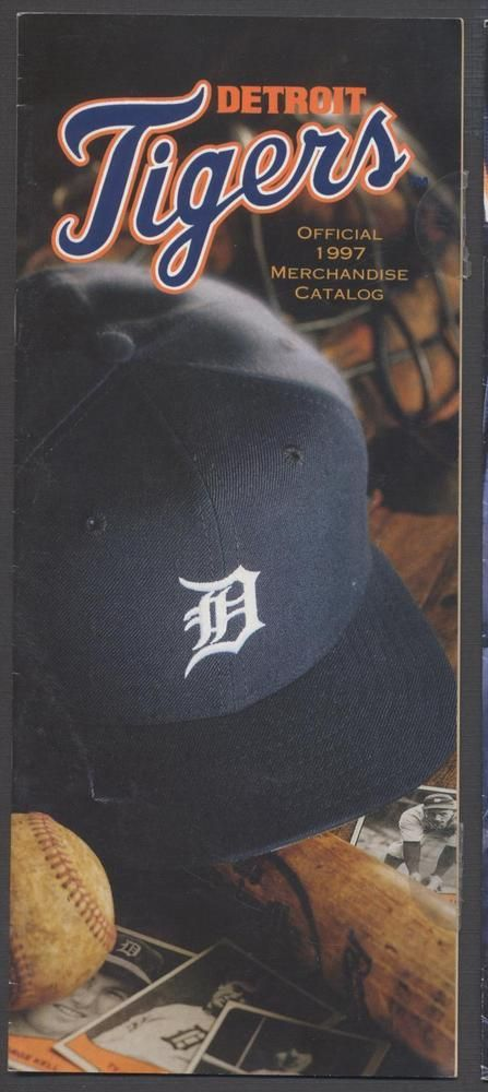1997 detroit tigers mlb baseball merchandise catalog with schedule/ticket info from $0.99