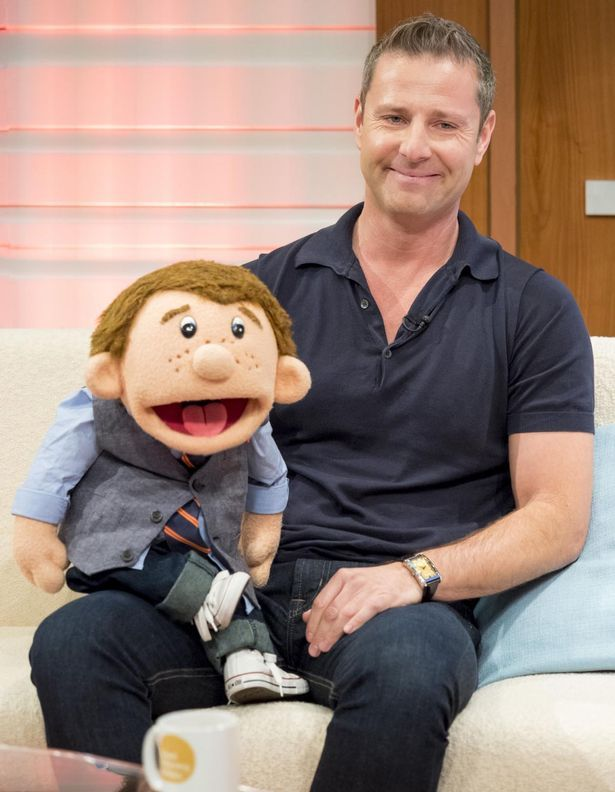 English comedian and ventriloquist Paul Zerdin with his friend Sam