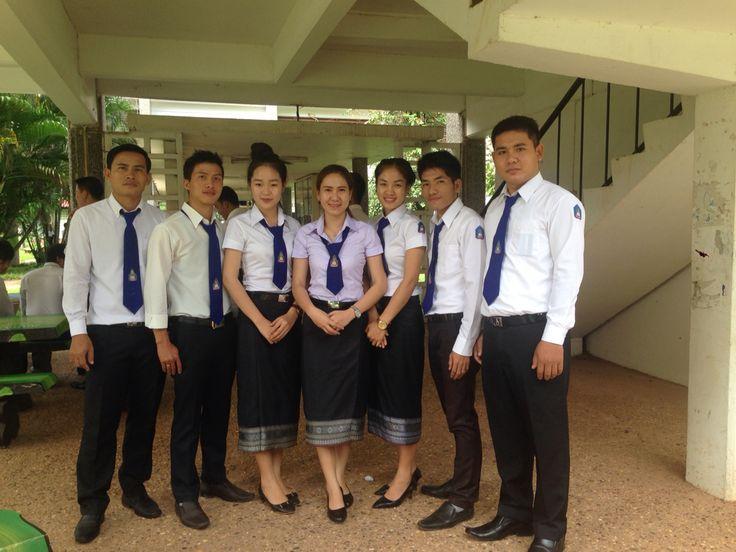 Lao Student National University Uniform Lao Clothes
