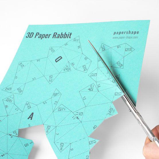Osterhasen Basteln In 3d Aus Papier Für Ostern Hasen Basteln