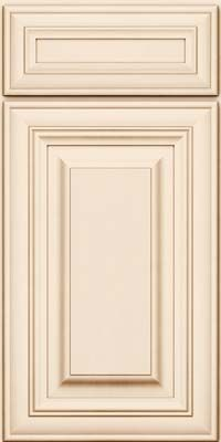 Door detail square raised panel solid aa1m maple in for Dove white cabinets with cocoa glaze