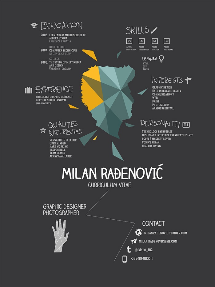 This is a really simple yet highly creative #CV from Milan Radenovic - #NotYourAverageCV