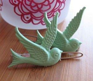 Mint Green Birdie Barretts