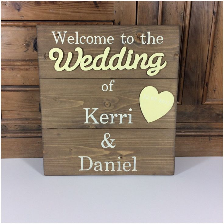 Lemon Yellow rustic wedding welcome sign, wedding sign, sign, personalised wedding sign, wedding decor. by OldPottingShed on Etsy