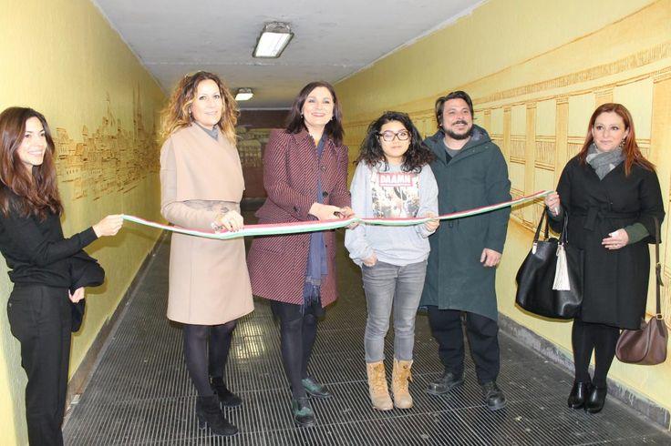 Macerata la Public Art rigenera il sottopasso di viale Trieste grazie a una studentessa dellABA