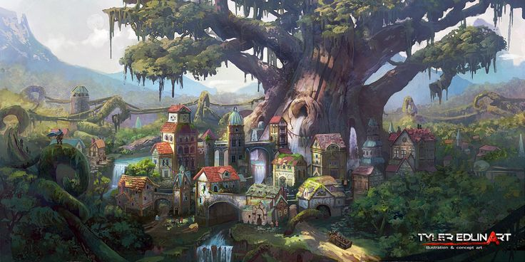 Elf City by TylerEdlinArt on DeviantArt