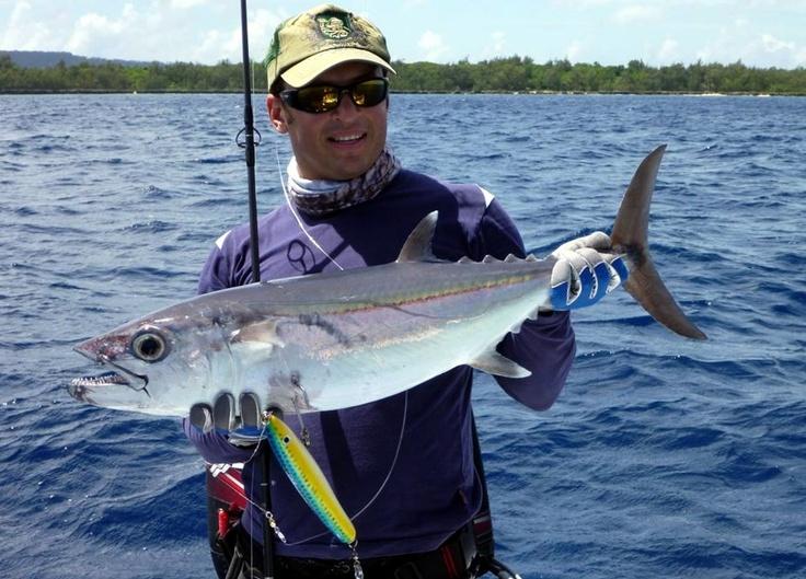 """This big"" never was so true. (Light Tackle Fishing shore excursion - Santo, Vanuatu) #angling #Vanuatu"
