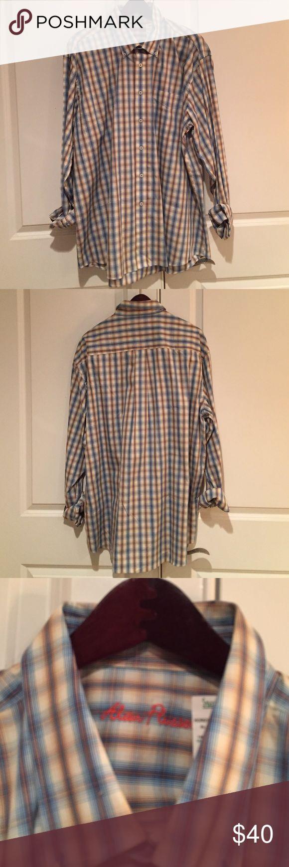 Alan Flusser men's plaid shirt Plaid shirt. Can be dressed up or down. Button down. 100% cotton. alan flusser Shirts Casual Button Down Shirts