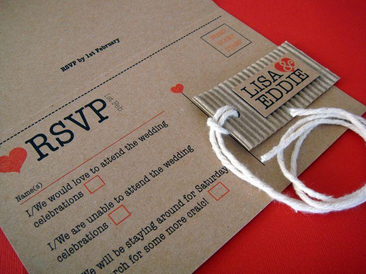 Rustic kraft day invitation Just Add You Wedding Stationery