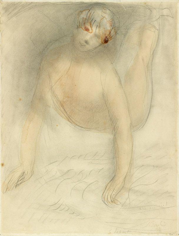 François-Auguste-René Rodin (Paris, 12 novembre 1840 - Meudon, 17 novembre 1917), Arc-en-ciel (le départ), Paris , vers 1911. MAD 3284. Legs Bardey, 1960 © Musée des Arts décoratifs de Lyon, Pierre Verrier