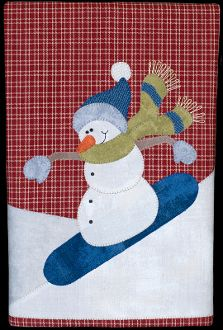 Snowboarding Snowman Patternlet by The Wooden Bear at KayeWood.com. Whether he's…