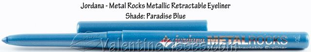 Valentine Kisses: Jordana Metal Rocks Retractable Eyeliner Pencils (3 shades) & Eye Makeup Remover - pics, swatches, reviews