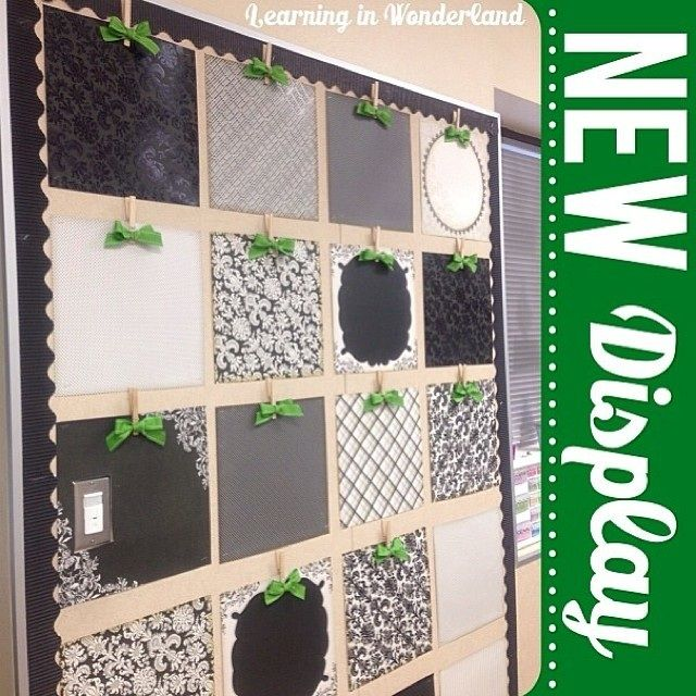 DIY Bulletin Board Idea - Displaying Student Work - My hat goes off to Learning in Wonderland for creating this magnificent bulletin board to display student work!