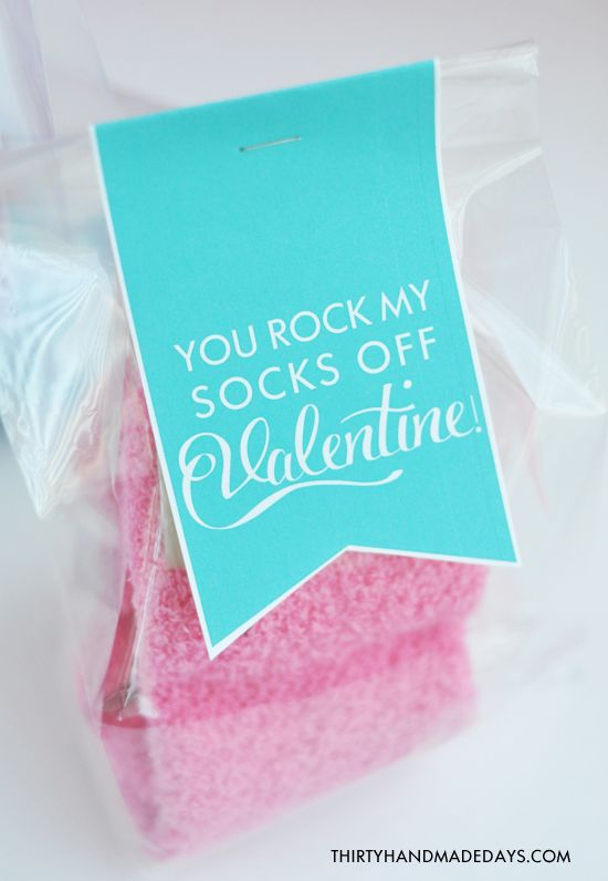 Perfect Valentines Tween Idea: You Rock My Socks Off! with FREE printable!